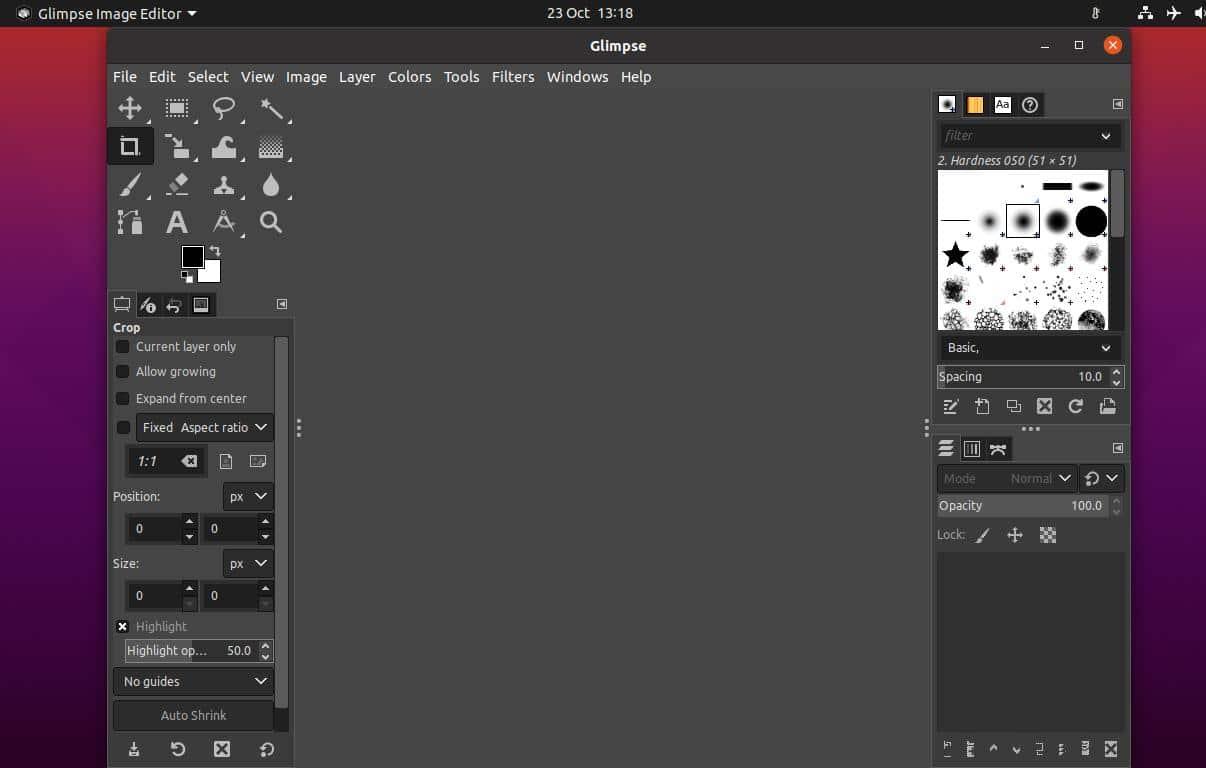 glimpse image editor tool