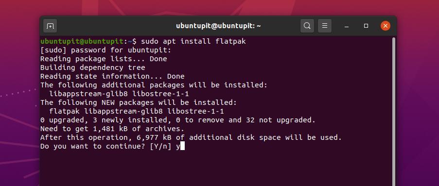 install Flatpak on ubuntu