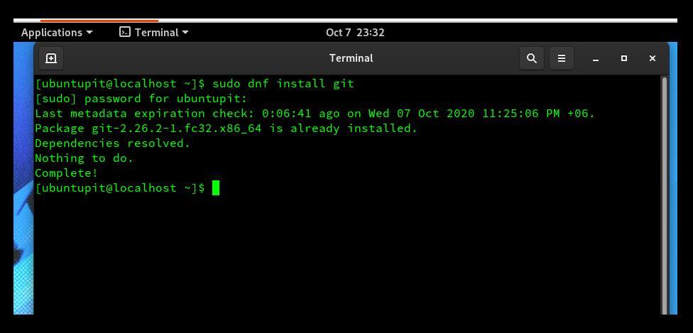 install GIT on fedora