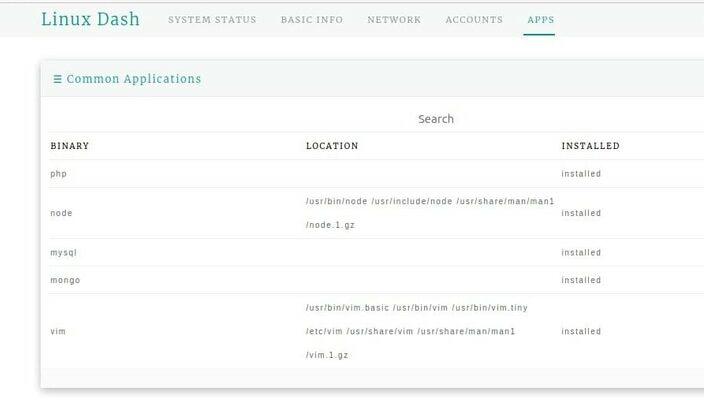 linux dash apps