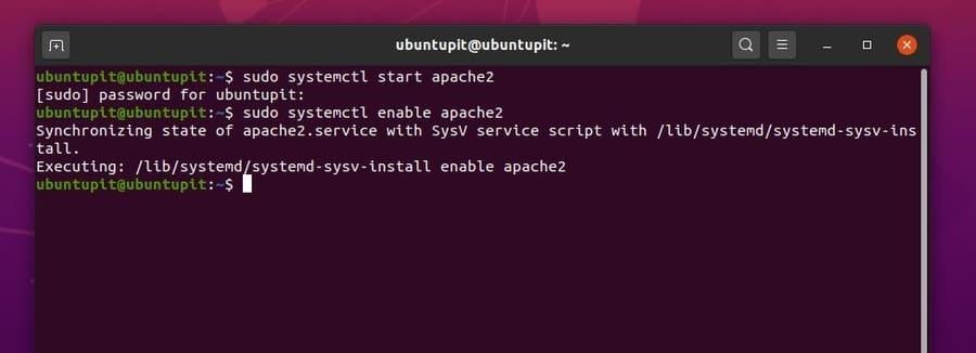 linux dash restart apache