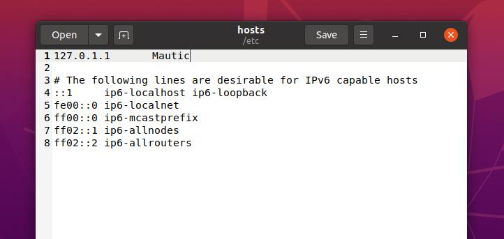 mautic ip address for localhost