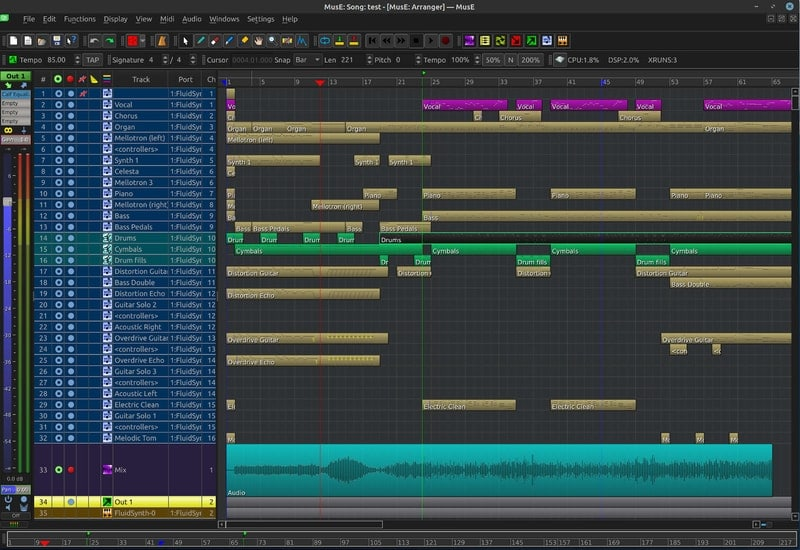 muse_sequencer - Linux Guitar Tools