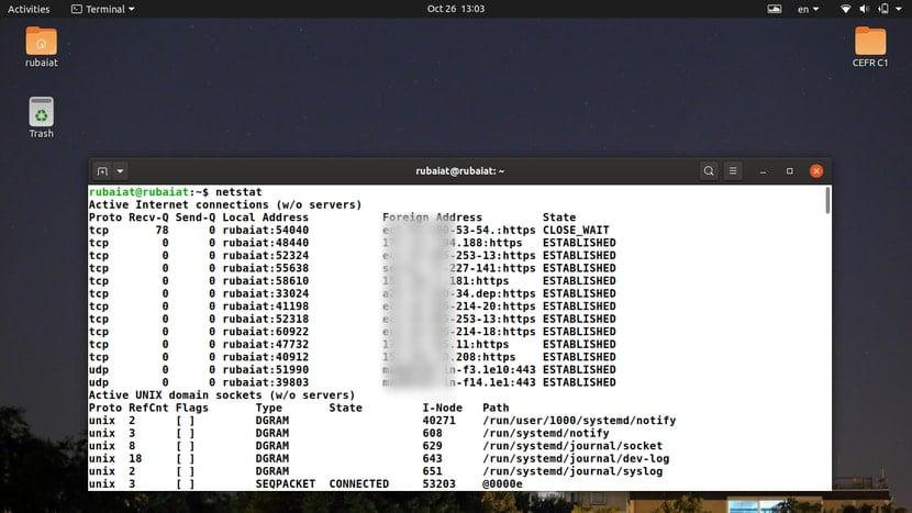 netstat command in Linux