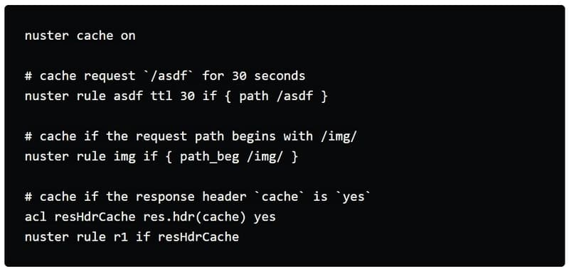 nuster - Linux web caches