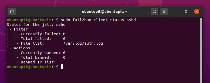 Linux fail2ban client status sshd
