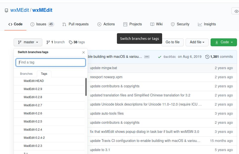 wxMEdit install software from source code