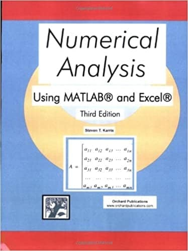 19. Numerical analysis using MATLAB and Excel