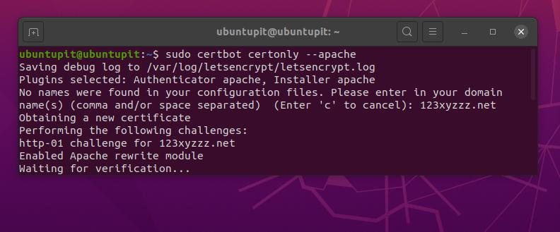 Apache Let's Encrypt on Linux