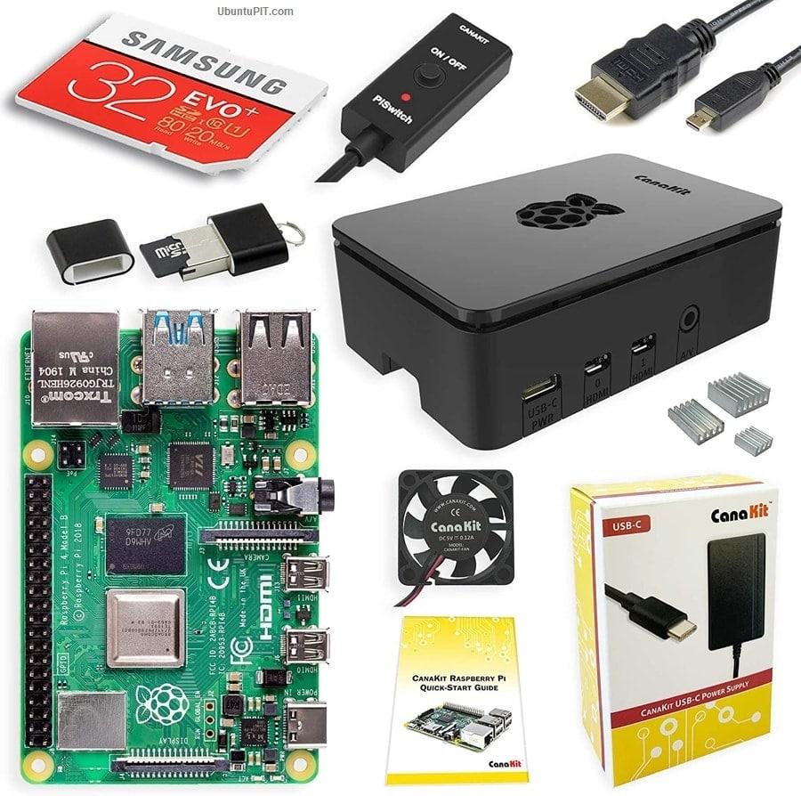 CanaKit Raspberry Pi 4 4GB Starter Kit – 4GB RAM