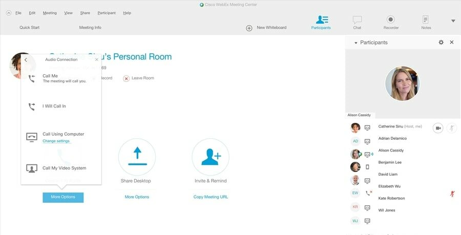 CiscoWebex - video conference software for Windows