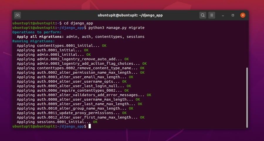 How to Install Django on Linux migeate