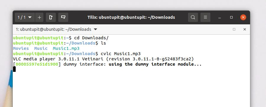 MP3 by command line CVLC