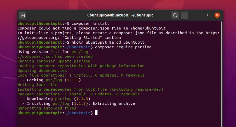 PHP Composer install