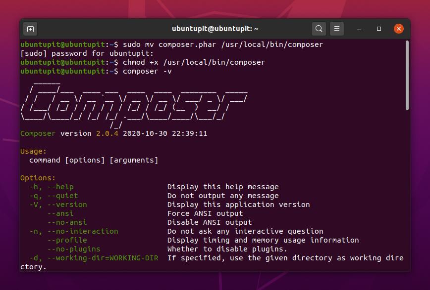 PHP Composer on Debian