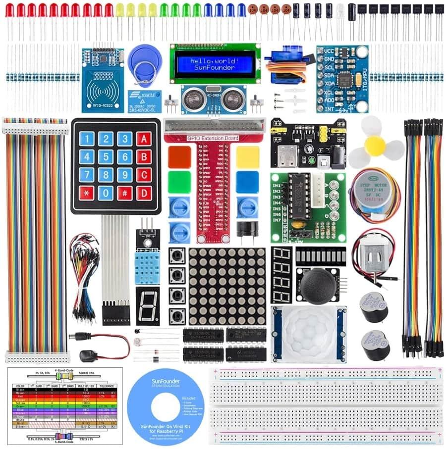 SunFounder Raspberry Pi Starter Kit Compatible with Raspberry Pi 4