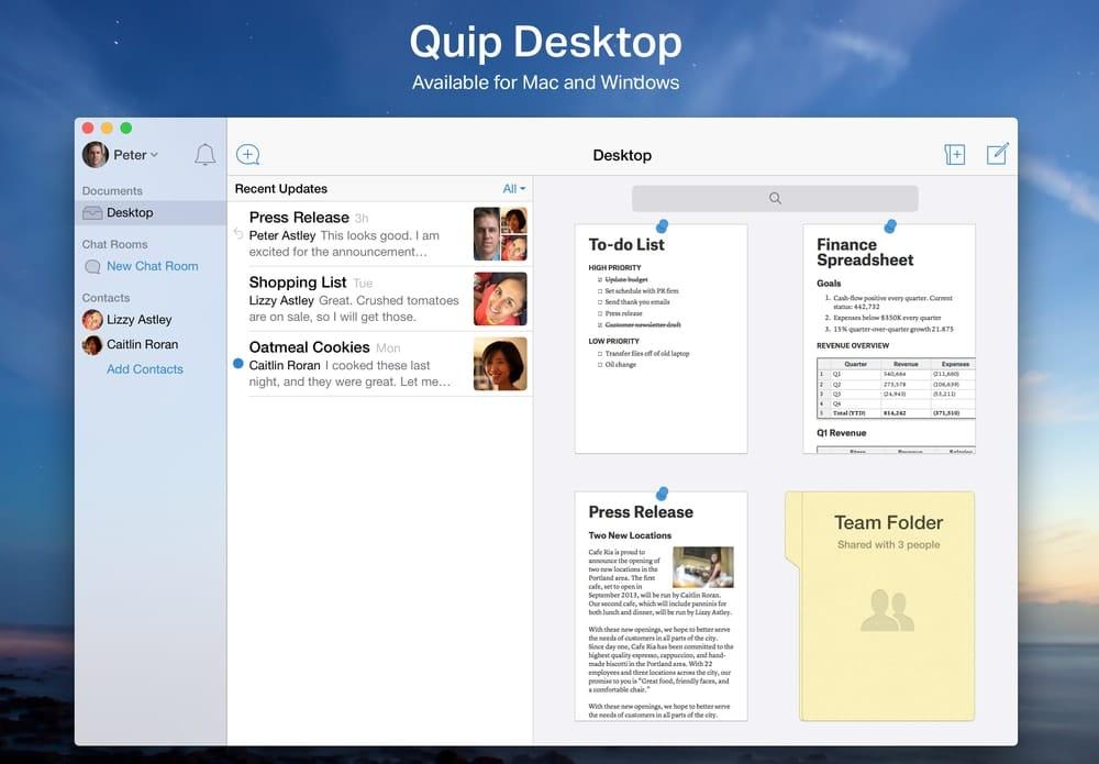 Quip- Docs, Chat, Sheets