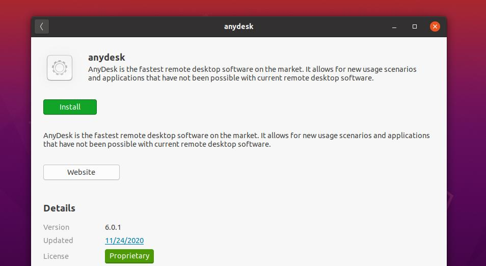 anydesk on software store