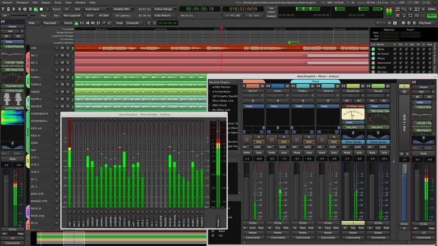 Ardour - music making software for windows