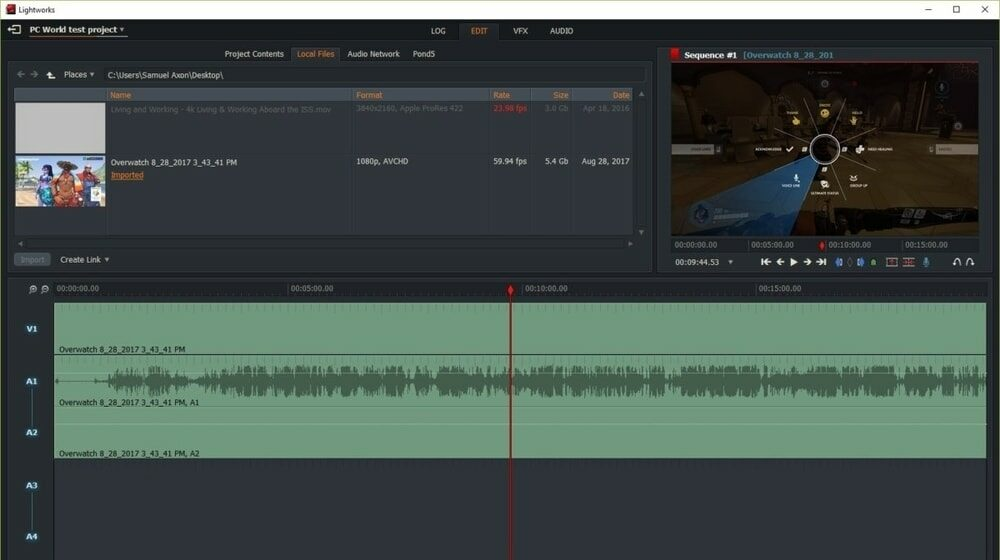 Lightworks video editing software for youtube
