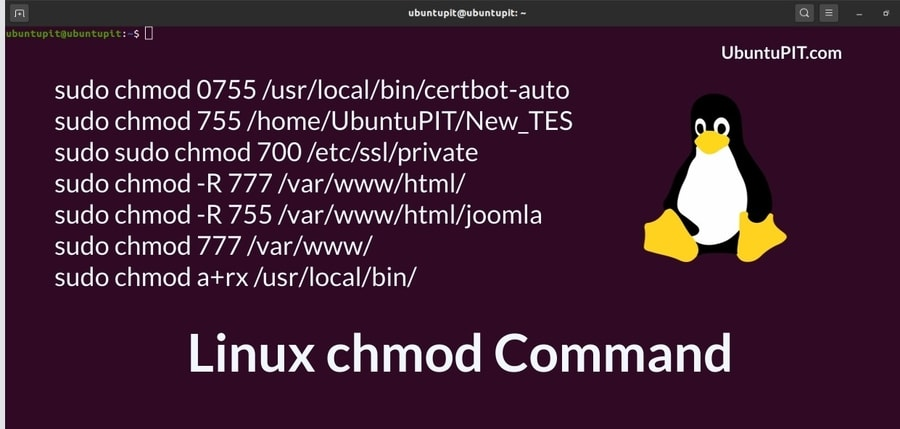 Linux chmod command