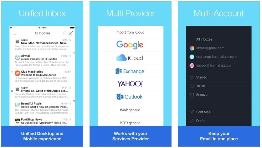 Mail, email apps for iPhone