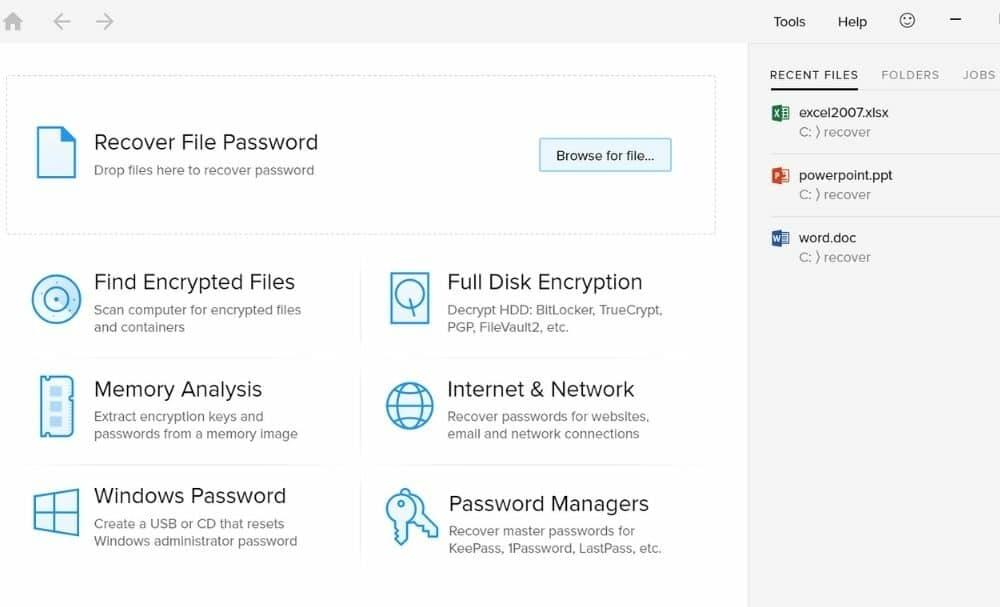 Passware Password Recovery Tool