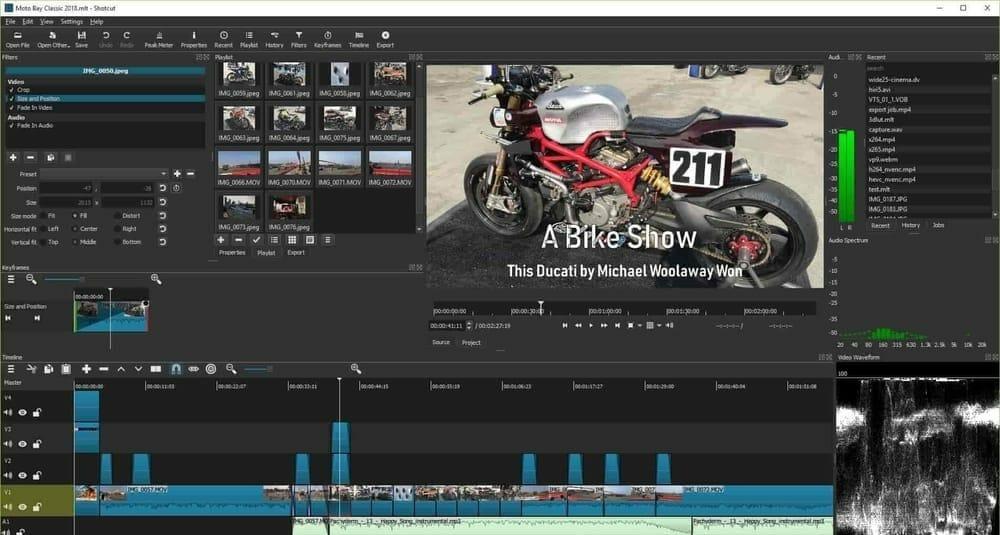 Shotcut video editing software for windows