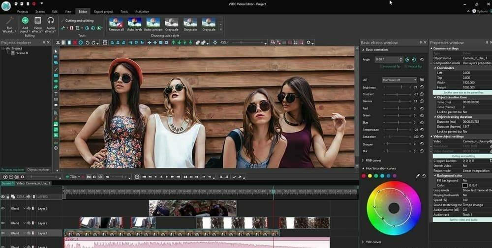 VSDC video editor for instagram