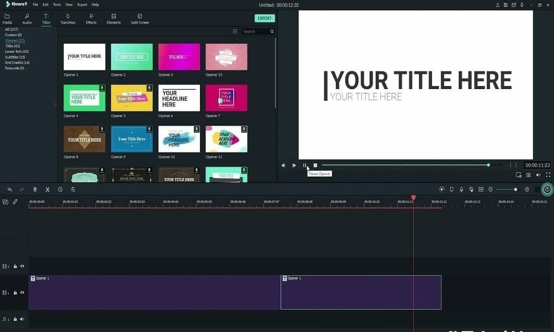 Wondershare Filmora free video editing app