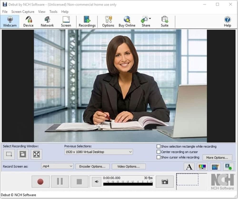 Debut videos capture for Windows 10