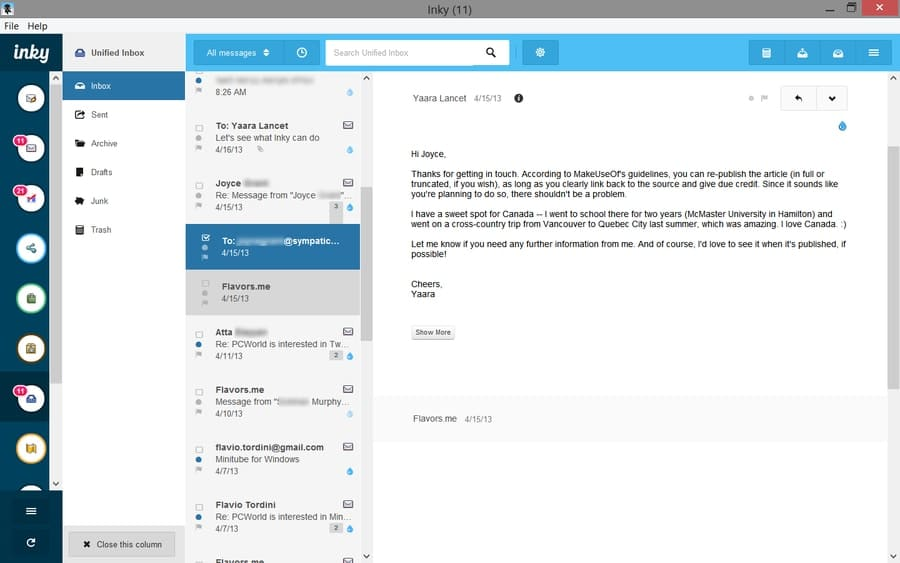 email clients for Windows - Inky
