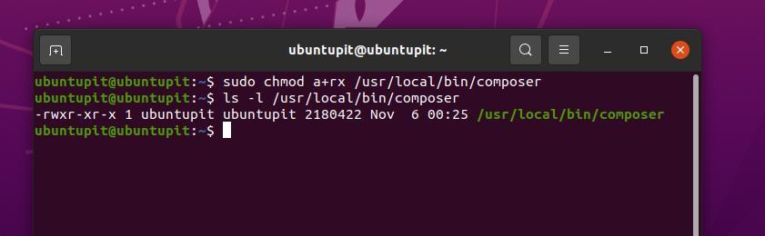 execute chmod command on linux