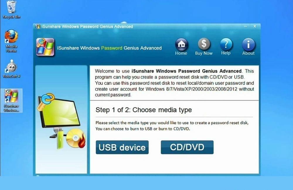 iSunshare Windows Password Genius