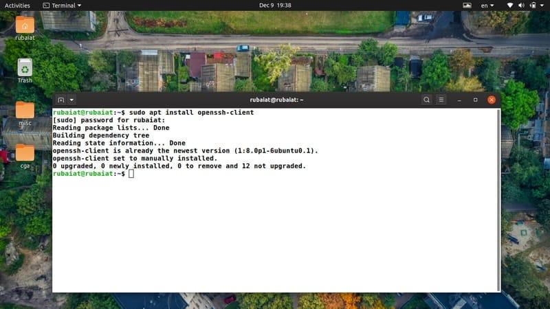 install openssh client
