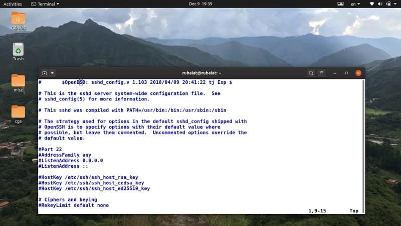 openssh server config