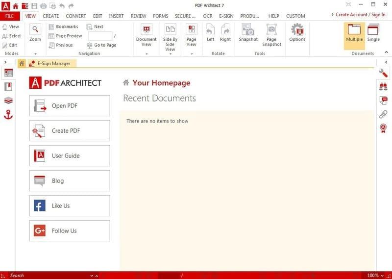 pdf_architect - pdf editor for windows