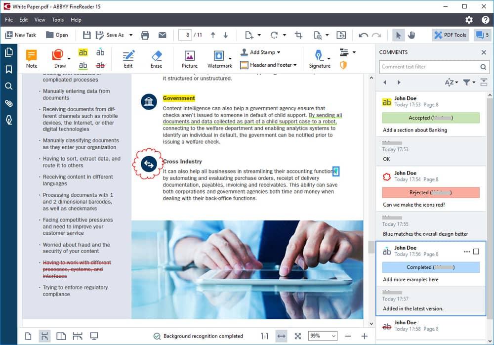 Abbyy FineReader scanner software for Windows