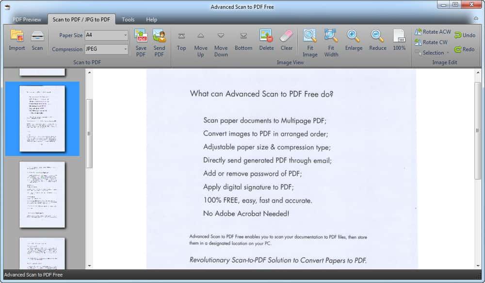 Advanced Scan to PDF