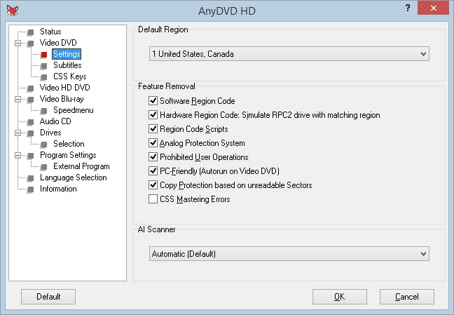 anydvd_hd - dvd rippers for windows 10