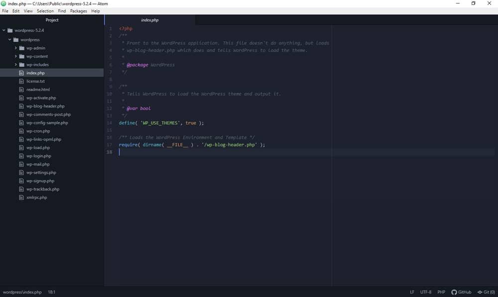 Atom code editor for PC