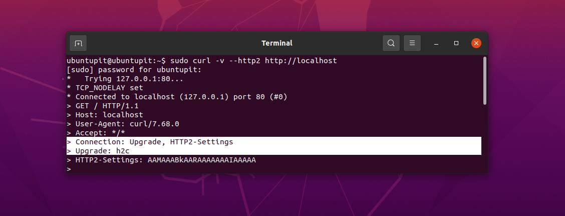 check http2 on Linux