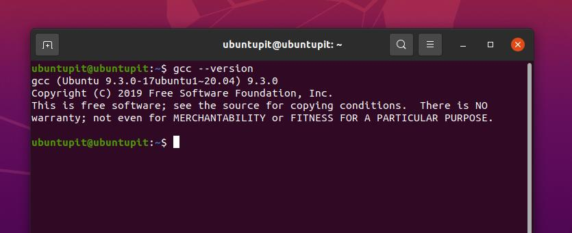 gcc version on ubuntu