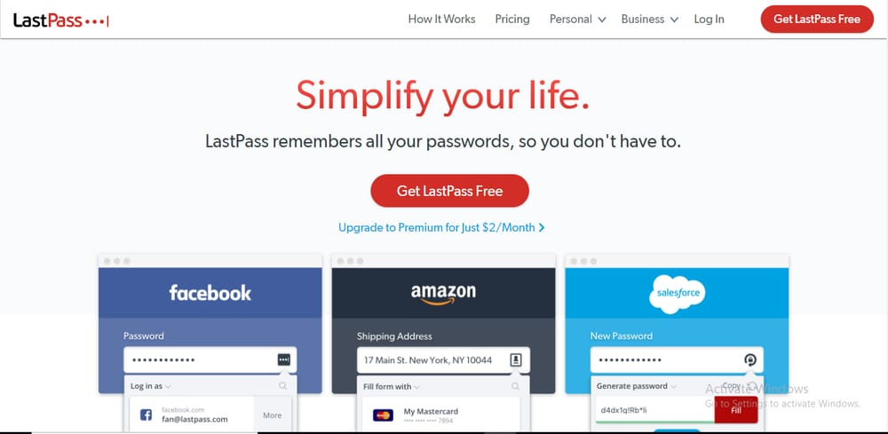 LastPass password manager for Windows