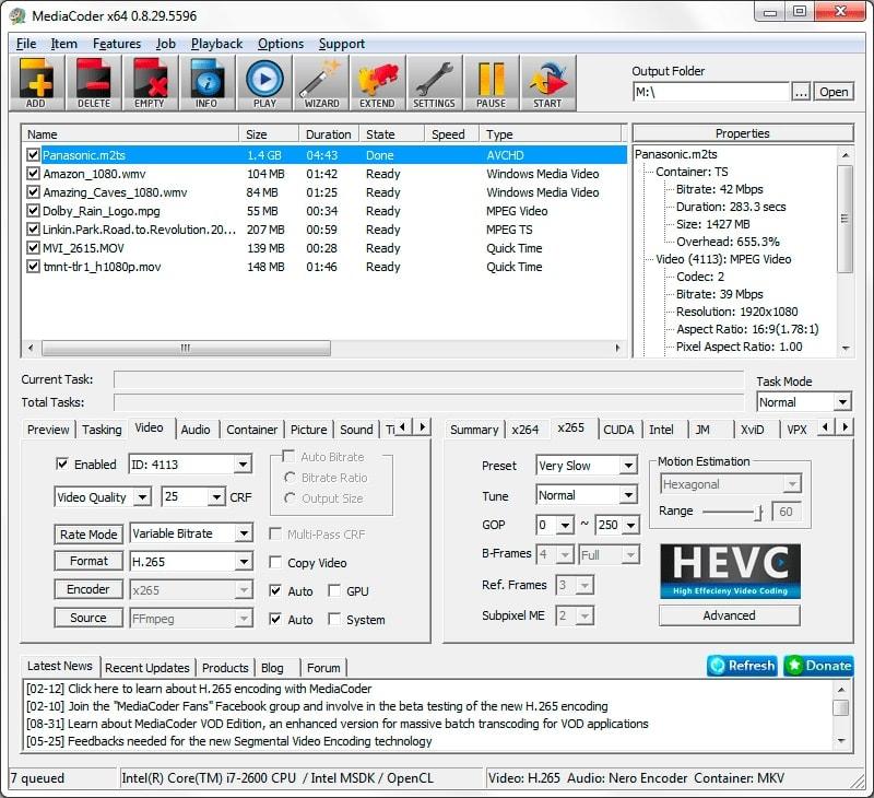 mediacoder - video converter for Windows