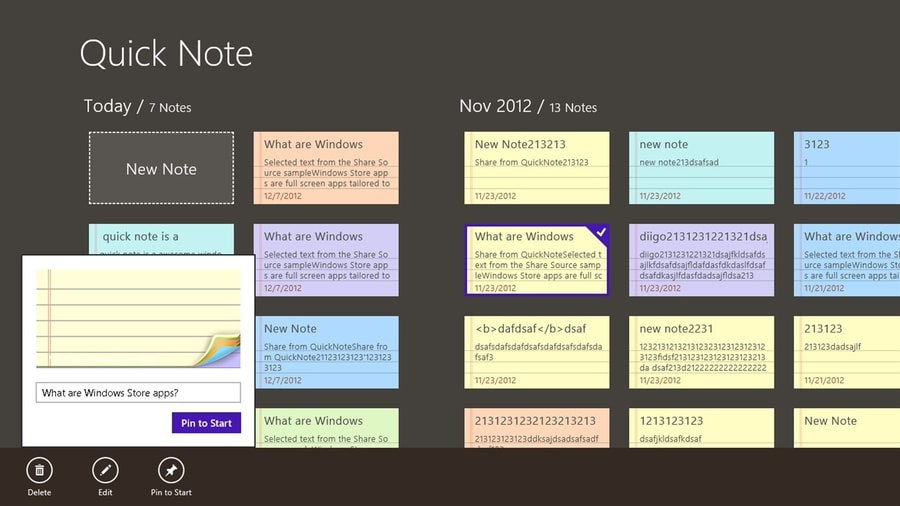 quick_note - note taking apps for Windows