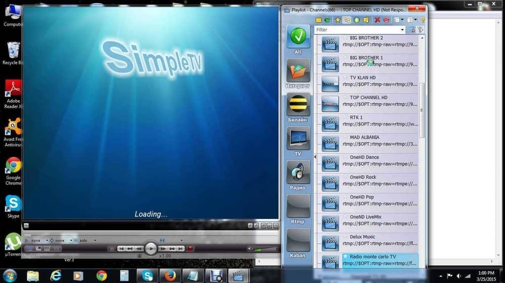 simpletv windows 10 IPTV Player