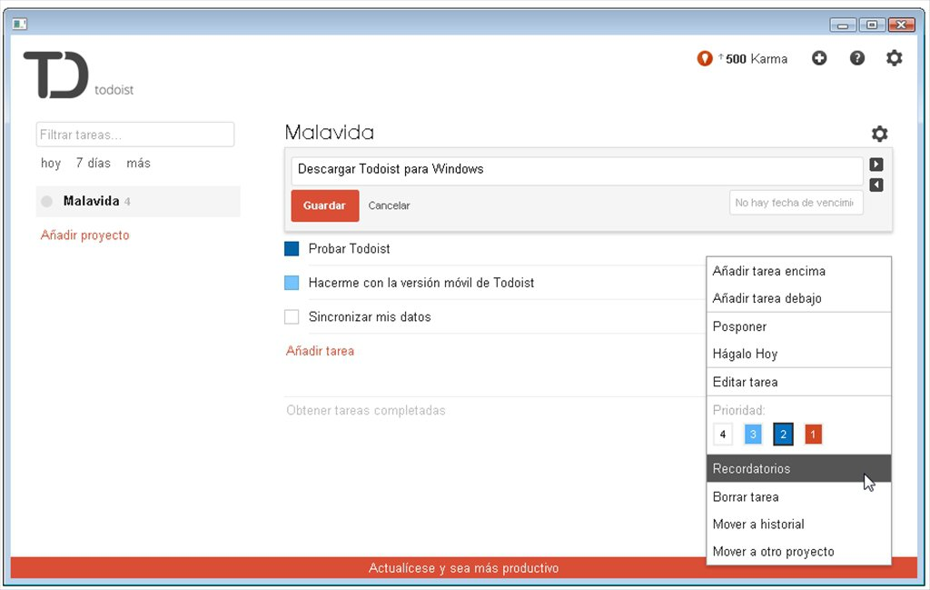 todoist-to do list apps for windows