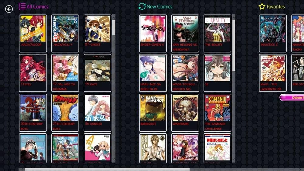 Comics World manga reader for PC