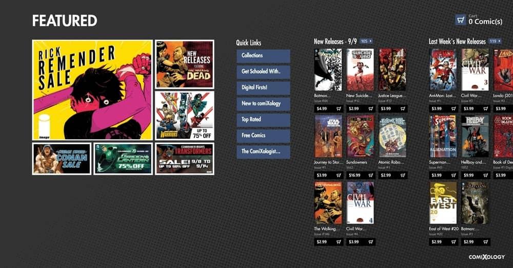 Comixology manga reader for PC